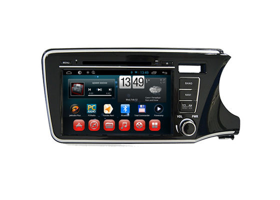 Chiny Android Radio Bluetooth Dvd Player Honda Navigation System For City 2014 Right Hand dostawca