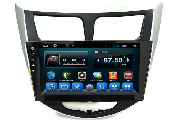 Android 2 Din Radio System GPS Auto Navigation Verna Accent Solaris Car Video Audio Player