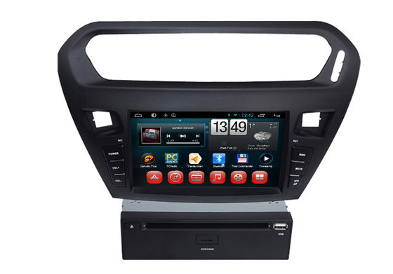 Chiny Quad core PEUGEOT Navigation System With 8.0 Inch Touch Screen / Auto Rear Viewing dostawca
