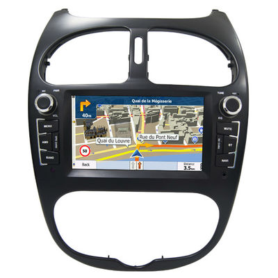 Chiny Peugeot 206 GPS Navigation Car Multimedia DVD Player With Android / Windows System dostawca