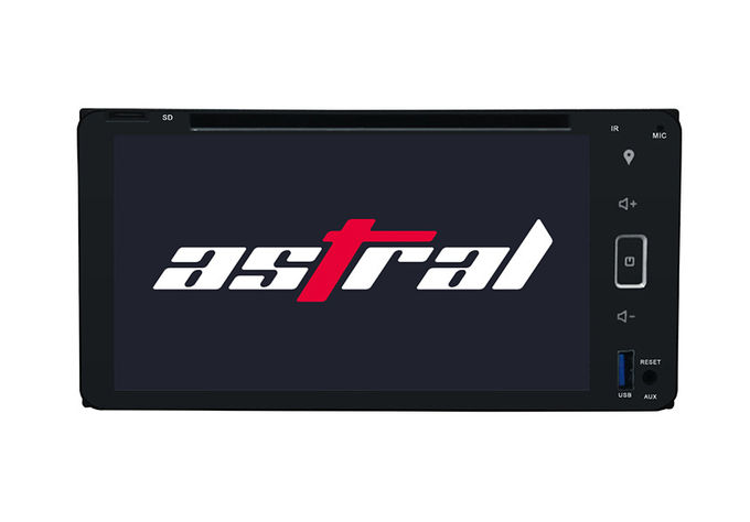 Octa Core Indash Navigator Double Din Car DVD Player 6.95 Inch For Universal